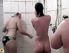 Perfect body in your face only in spycammed shower