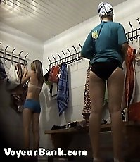 Spycamming real sexy bathers just from the showers