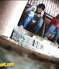 Two young chicks get unlucky to pee in spycammed loo
