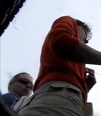 Surprising upskirt video in public